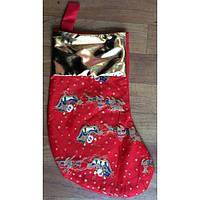 Новогодний сапог, носок для новогодних подарков  17х37см,