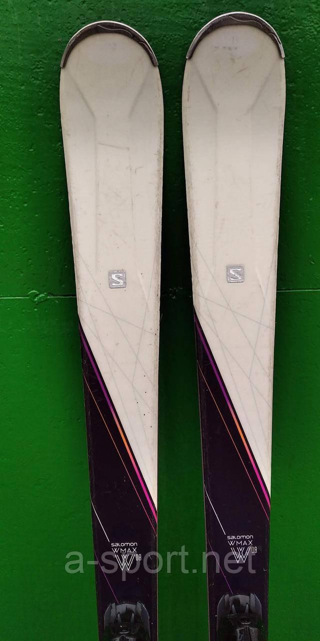Гірські лижі бу Salomon W-Max 8 162 см, карвінг 2018р