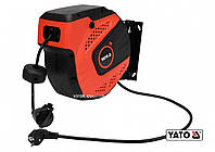 Удлинитель электрический на катушке YATO 10 м 1.5 мм² 3-жильный