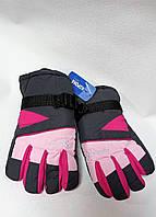 Підліткові рукавички на микрофлисе плащівка Корона