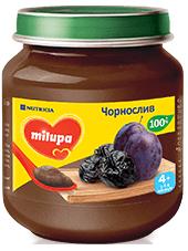 Дитяче пюре фруктове «Чорнослив» Milupa  125гр від 4 міс