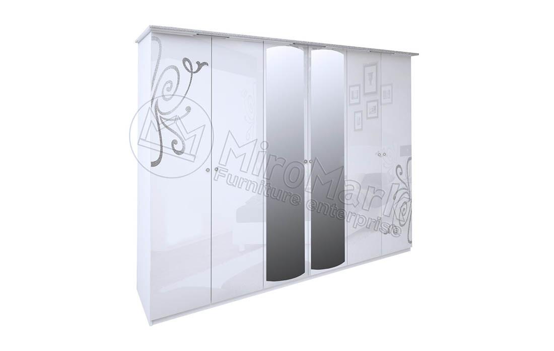 Шкаф 6д «Богема» с зеркалом MiroMark