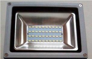 Прожектор LED 20Вт 6500K IP65 40Led Lemanso серый