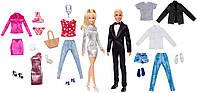 Barbie Набор кукол Барби и Кен с комплектами одежды Barbie & Ken Dolls with Fashion Giftset Mattel GHT40