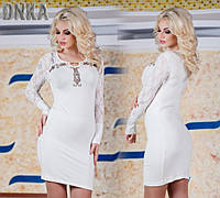 Платье про-во Турция со стразами 3 цвета