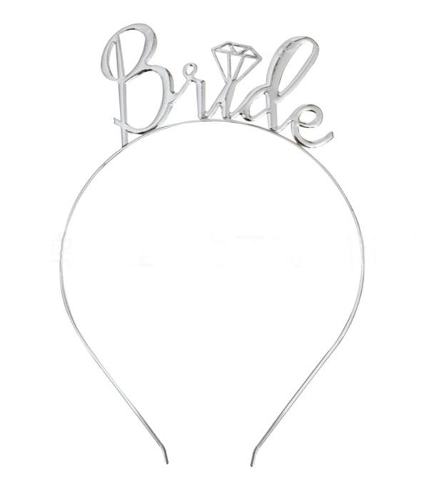 """Обруч для невесты """"Bride"""" (серебро)"""