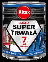 Супер стойкая эмаль Altax Super Trwala Emalia (Чёрная глянцевая) 0,75 л, фото 1