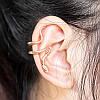 Серьга Змея клипса на ухо