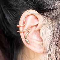 Серьга Змея клипса на ухо, фото 1