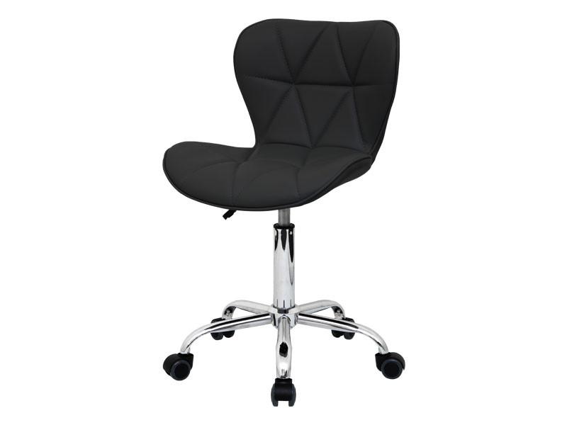 Стульчик мастера со спинкой для салона красоты маникюрные стулья (белый красный черный) 161