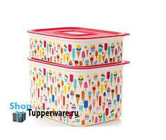Tupperware набор акваконтролей Мороженное 1.3л и 500мл