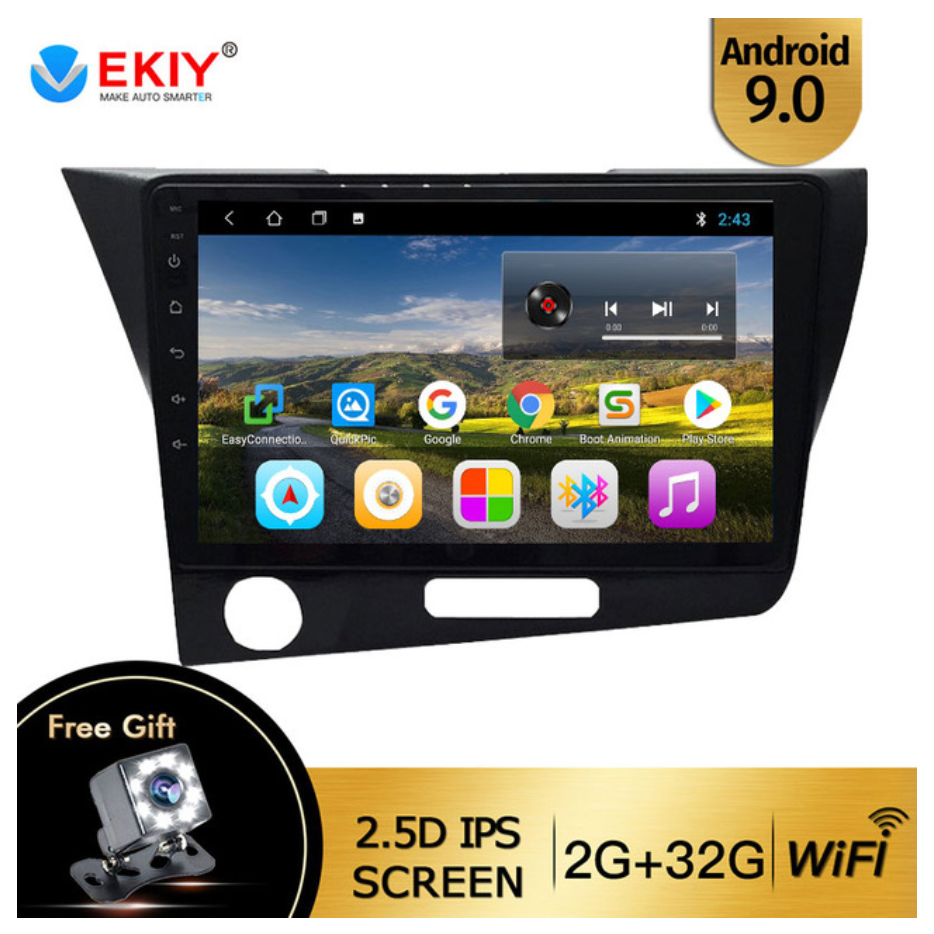 Магнітола EKIY T300 2/32 Android 9 для Honda CR-Z мультимедіа crz