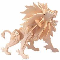 Игрушки из дерева Мир деревянных игрушек 3D пазл Лев З005, КОД: 2436436