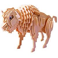 Игрушки из дерева Мир деревянных игрушек 3D пазл Бизон М027, КОД: 2436468