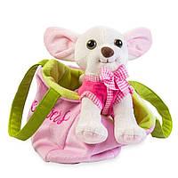 Мягкая игрушка Tigres Собачка чихуахуа белый с сумочкой в платье Tigres СО-0103, КОД: 2427977