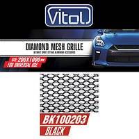 Решетка декоративная VITOL 100*20см black №3 (BK100203)