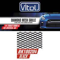 Решетка декоративная VITOL 100*20см black №4 (BK100204)