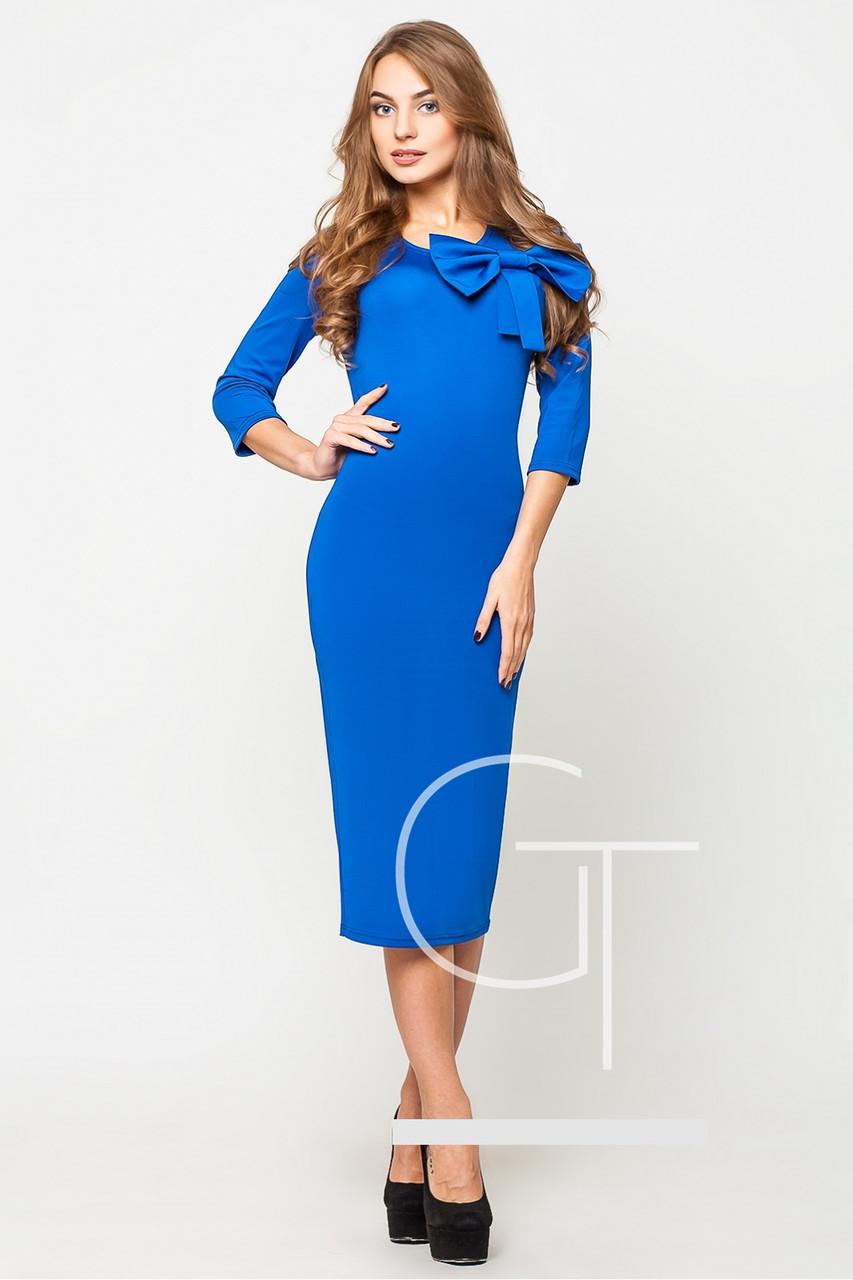 Платье стильное миди