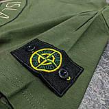 Мужская футболка Stone Island CK1690 зеленая, фото 2