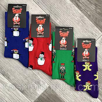 Новорічні шкарпетки чоловічі демісезонні бавовна Мirabello, 40-45 розмір, асорті, 0535