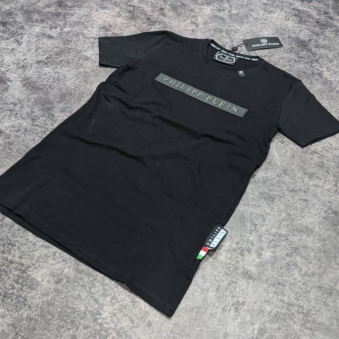 Мужская футболка Philipp Plein CK1693 черная