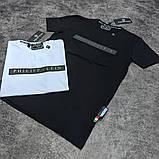 Мужская футболка Philipp Plein CK1693 черная, фото 3