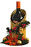 """Новогоднее оформление-подставка для спиртного""""золотой статус"""""""