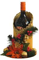 """Новогоднее оформление-подставка для спиртного""""золотой статус"""", фото 1"""