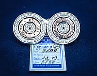 Шикарные серебряные серьги со вставками золота Bvlgari