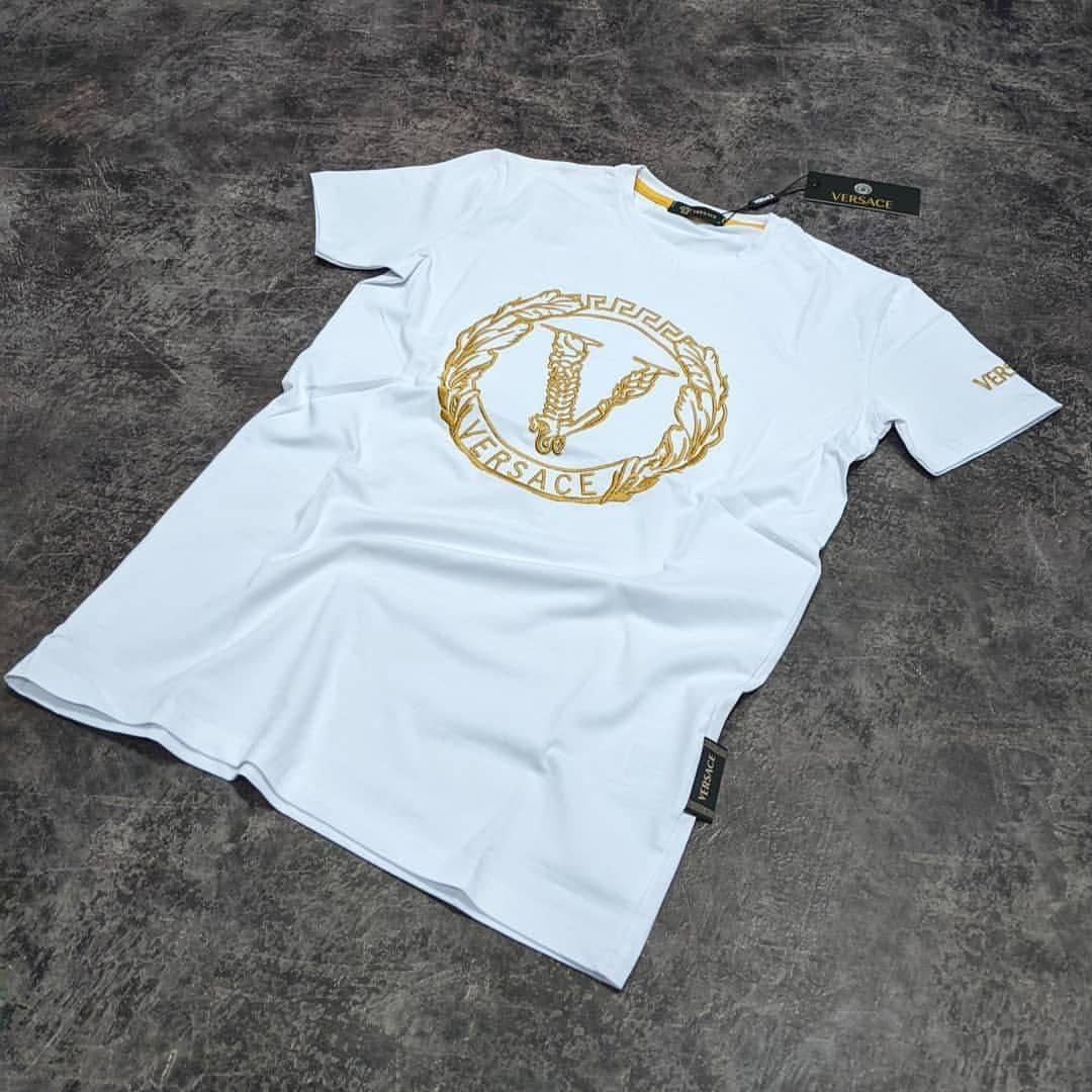 Мужская футболка Versace CK1695 белая