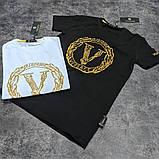 Мужская футболка Versace CK1696 черная, фото 2