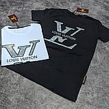 Мужская футболка Louis Vuitton CK1708 белая, фото 3