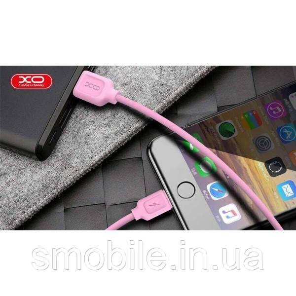XO Lightning кабель зарядки и синхронизации XO NB36 TPE для iPhone iPad iPod розовый (1000 мм)