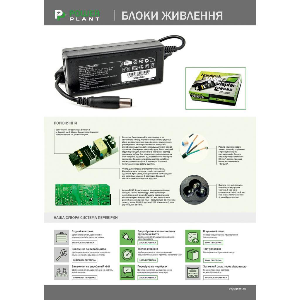 Блок живлення до ноутбука PowerPlant HP 220V, 19.5 V 65W 3.33 A (4.5*3.0) wall mount (WM-HP65G4530)