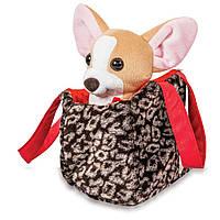Мягкая игрушка Tigres Собачка чихуахуа коричневый с сумочкой в платье СО-0102, КОД: 2427975
