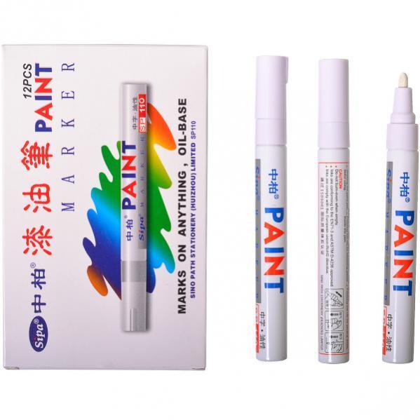 Маркер для метки пчелиных маток 2021, 2026 год белый Sipa Paint SP-110