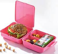 Ланч-бокс Qlux Magic 14х14х8 см пластиковый Розовый psgUK-L-00322, КОД: 1143391