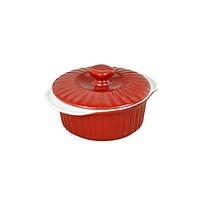 Кастрюля керамическая Kamille Красный для запекания 1.5л с крышкой KM-6100R