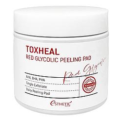 Пілінг-подушечки з гліколевою кислотою Esthetic House Toxheal Red Glycolic peeling pad