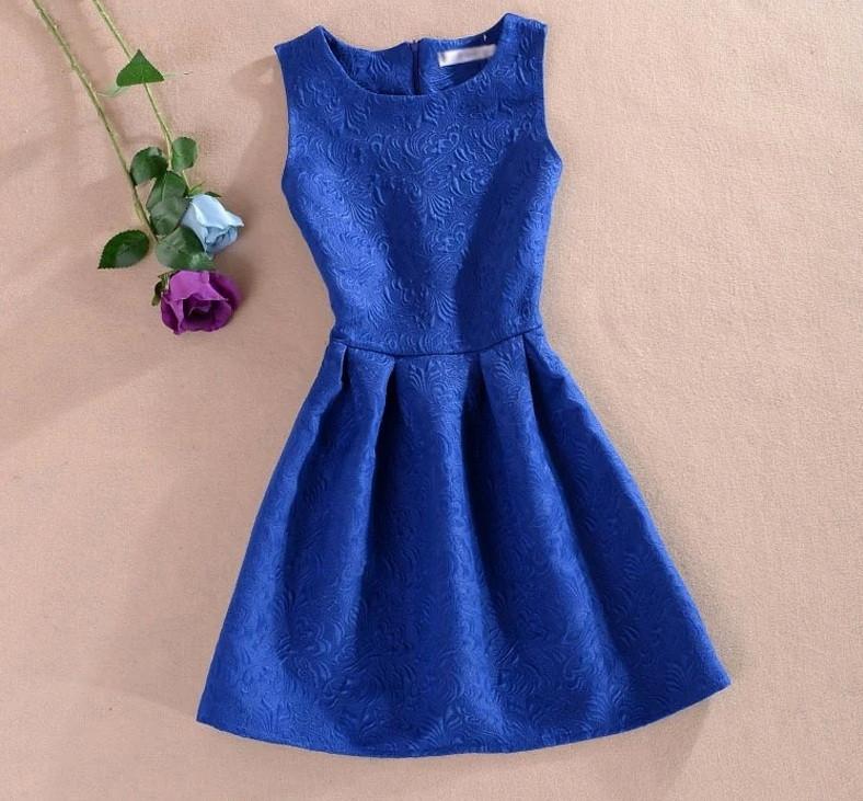 Жаккардовое  синее