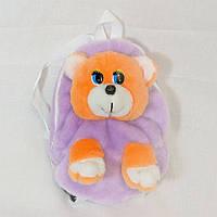 Рюкзак детский Золушка Медведь 28см Сиреневый 262-3, КОД: 1463624