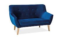 Прямой диван Signal Nordic 2 Velvet Голубой NORDIC2V86, КОД: 1599234