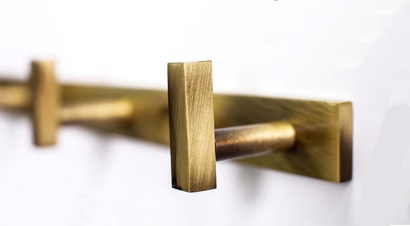 Тримач рушників з 6 гачками серія Viya бронза