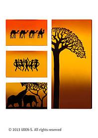"""Керамический дизайнерский обогреватель """"Африка"""" (квадриптих) 1300 Вт"""