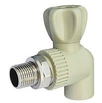 Кран радиаторный угловой 20*1/2 полипропилен Hi-Therm
