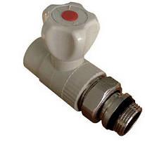 Кран радиаторный прямой антипроточный 25*3/4і полипропилен Hi-Therm