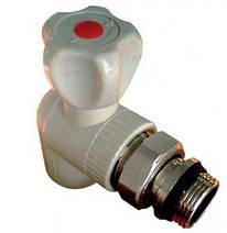 Кран радиаторный угловой антипроточный 25*3/4і полипропилен Hi-Therm