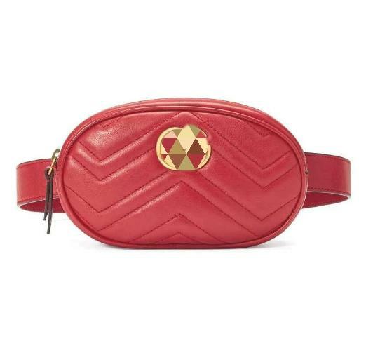 Червона сумка на пояс GG Marmont