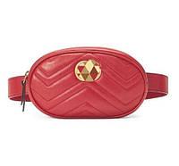 Червона сумка на пояс GG Marmont, фото 1