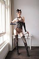 Эротический костюмчик тигрицы для ролевых игр. Сексуальный костюм дикой кошки для интима